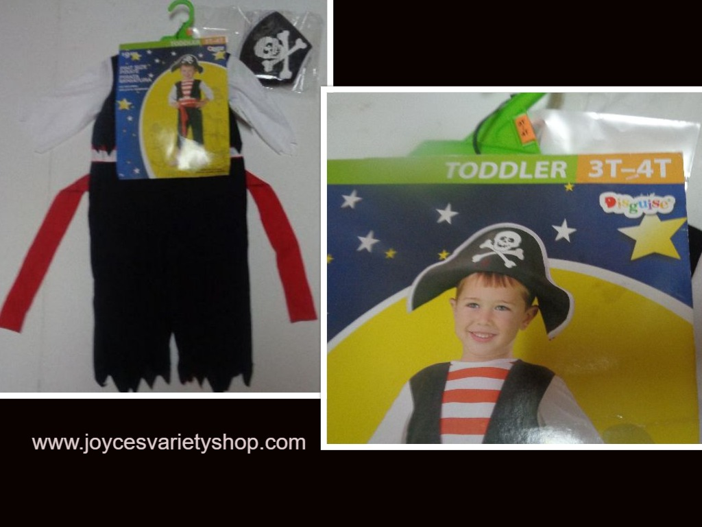 Toddler Pirate Costume SZ 3-4T 2 Piece