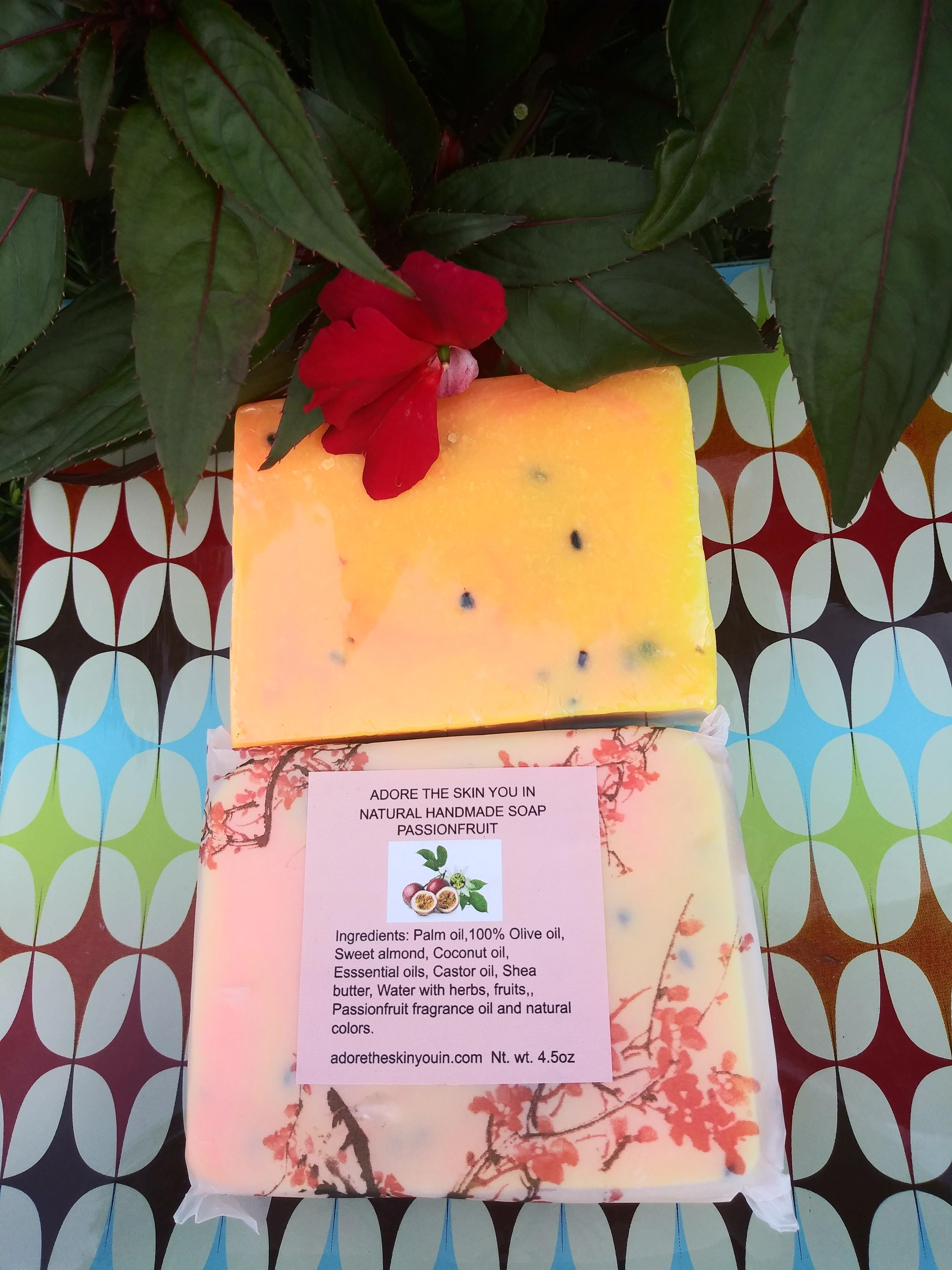 Natural Handmade Soap: Passionfruit (4.5oz).