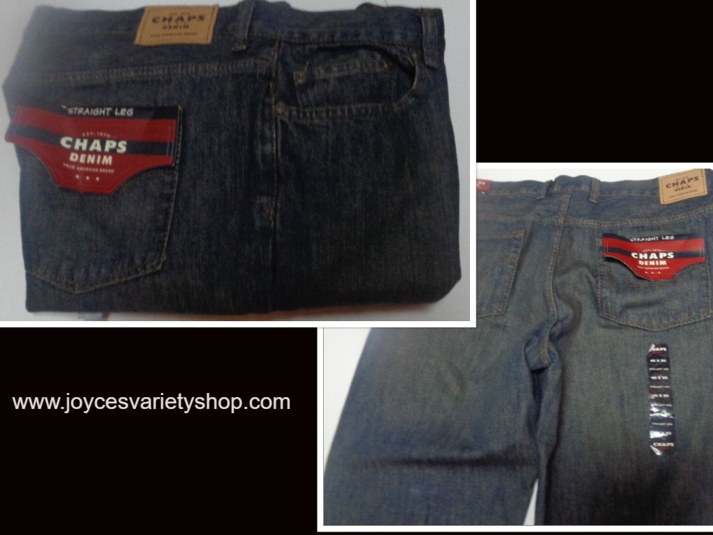 Men's Blue Jeans Chaps Denim SZ 40 x 30 Straight Leg