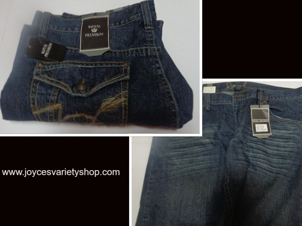 Royal Premium Men's Blue Jeans Sz 42 x 32