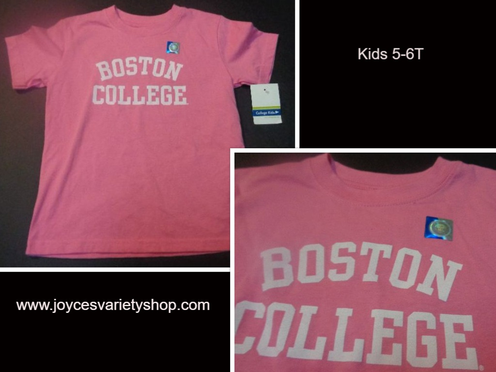 Pink BOSTON COLLEGE Kid's T-Shirt Pink SZ 5-6T