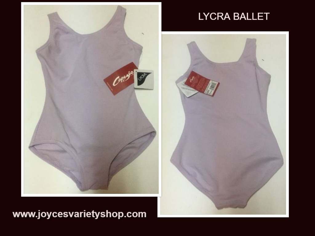 Lycra Dancers Lavender Leotard Youth Girl's Sz M Sleeveless