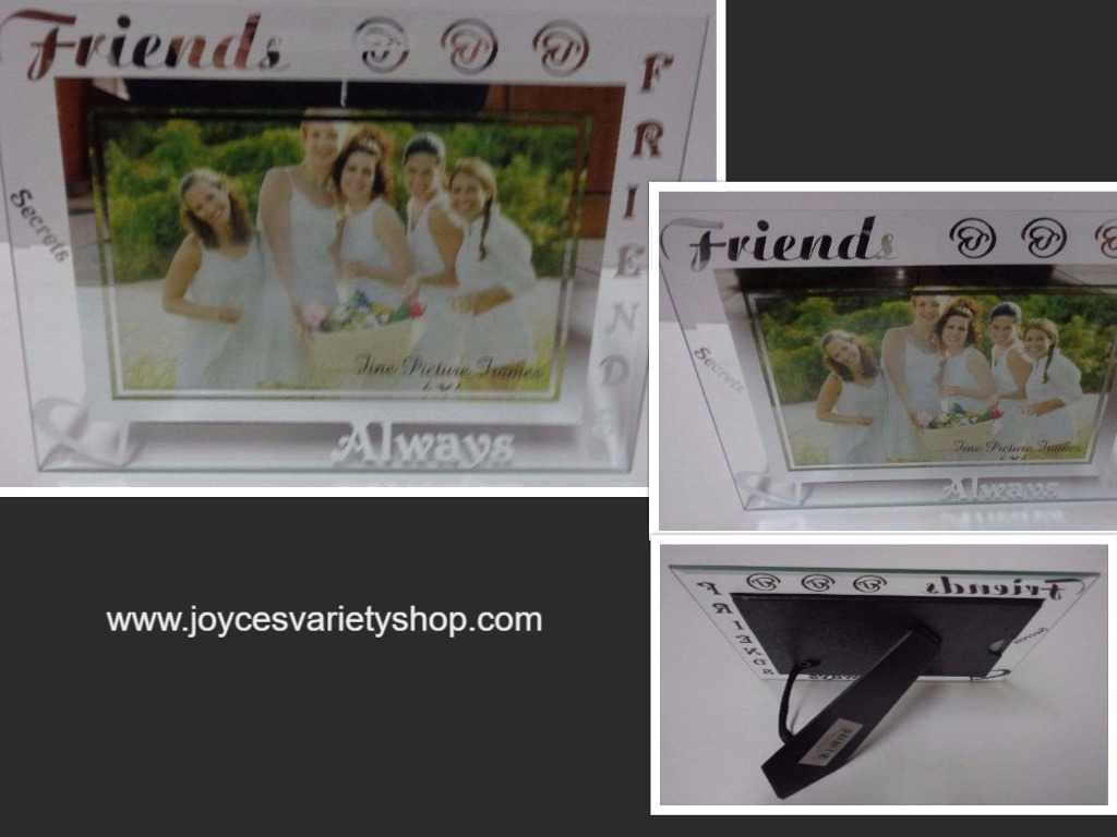 Photo frames albums friends always etched glass photo frame nwt 6 x 4 photo jeuxipadfo Image collections