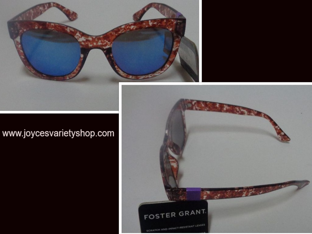 Foster Grant Brown Multi-Color Iridescent Sunglasses Max Block
