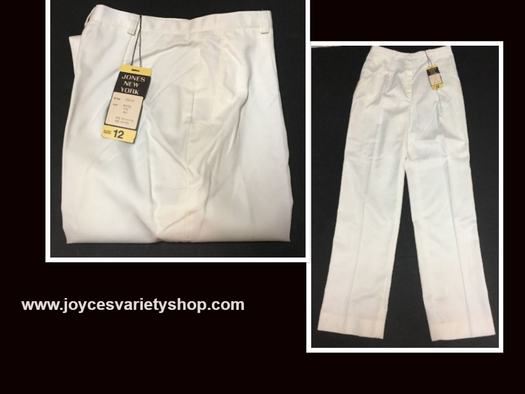 Jones New York White Pants Slacks Sz 12