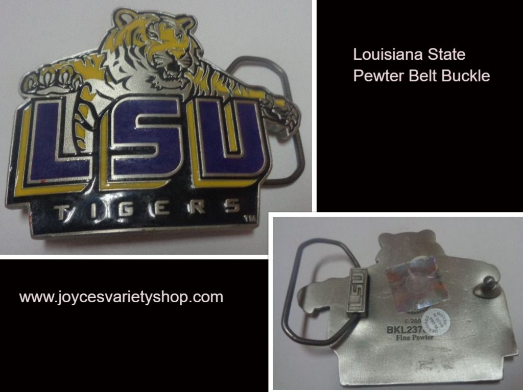 Louisiana State University LSU Tigers Fine Pewter Belt Buckle