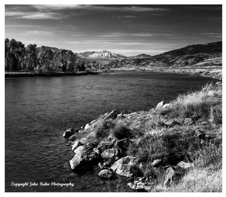 Yellowstone River in Black & White