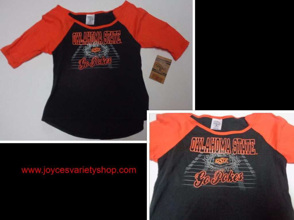 Oklahoma State University GO POKES T-Shirt NWT Girl's Youth 7/8 OSU