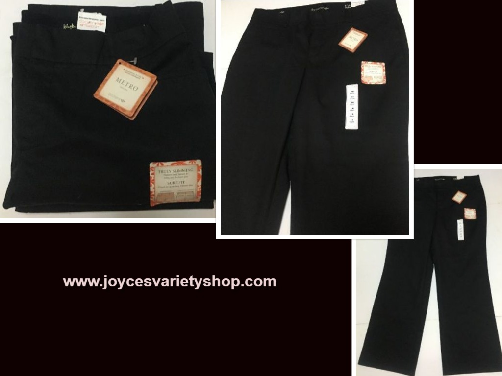 Dockers Black Pants Sz 16 Short Slimming