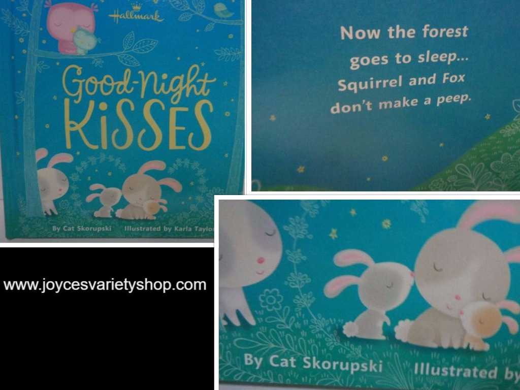 Hallmark GOODNIGHT KISSES Children's Board Book BRAND NEW Bed Time