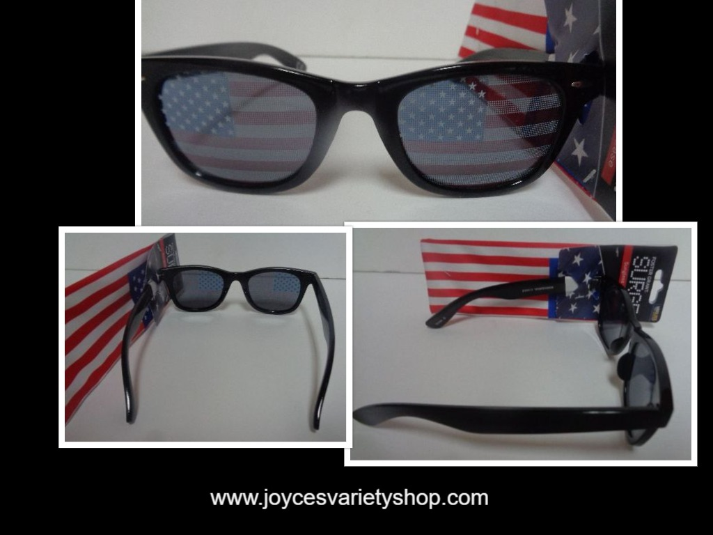 Foster Grant Surge Patriotic USA Flag Sunglasses NWT Includes Flag Cloth Case