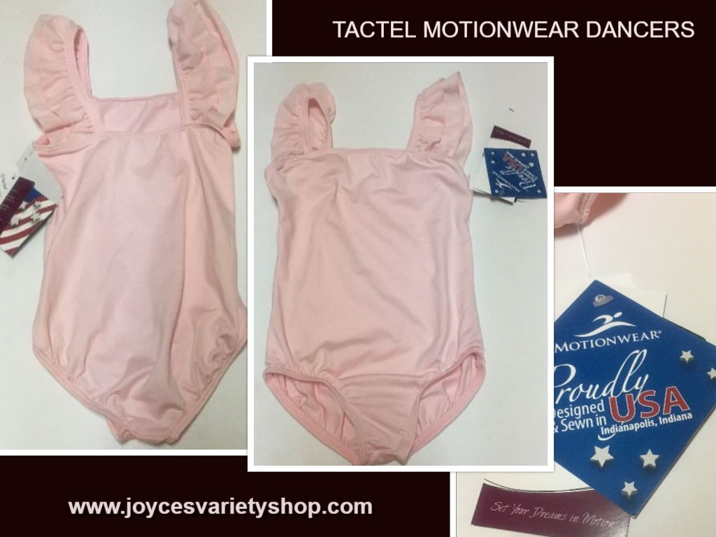 Tactel Dancers Pink Leotard Youth Girl's Sz 6X/7 Sleeveless Motionwear USA