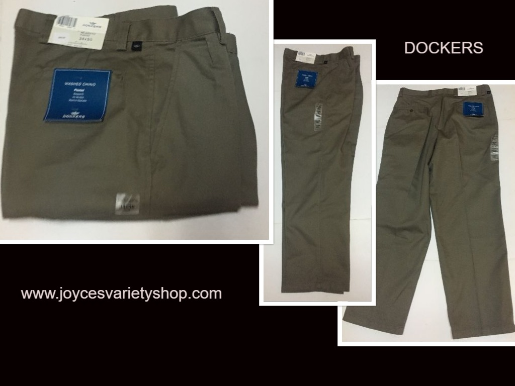 Dockers Chino Gray Pants 34 x 30 Relaxed Fit