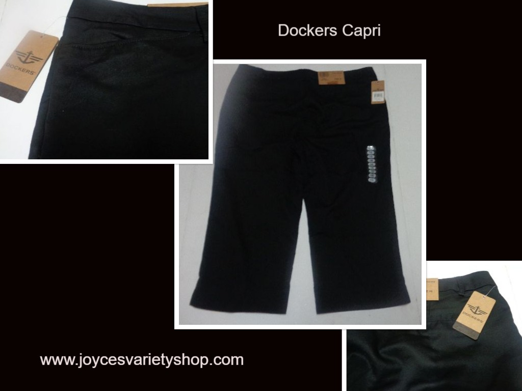 Dockers Black Capri Women's Sz 16