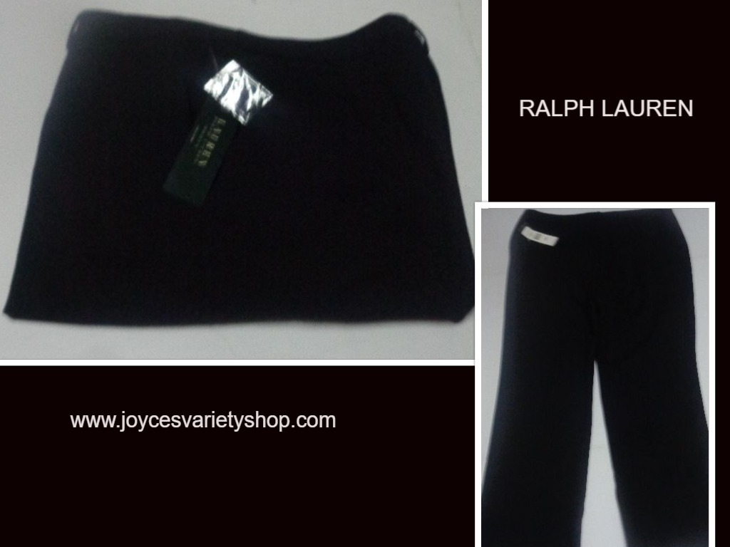Ralph Lauren Women's Black Slacks Pants NWT SZ 18W