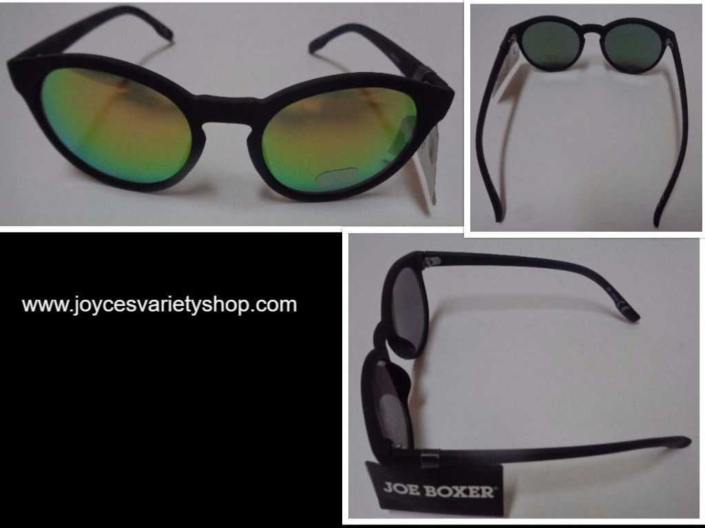 Joe Boxer Black & Green Sunglasses NWT 100% UV Free Shipping