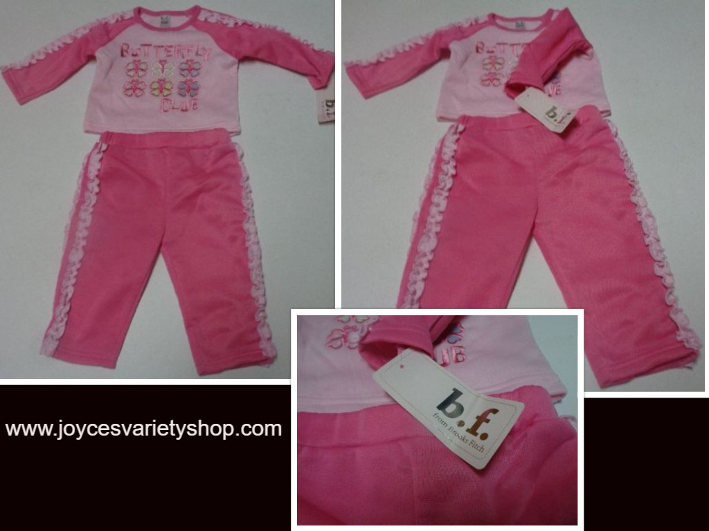 Butterfly Club Brooks Fitch Infant Girl 2 Piece Winter Set NWT Sz 6/9 Months