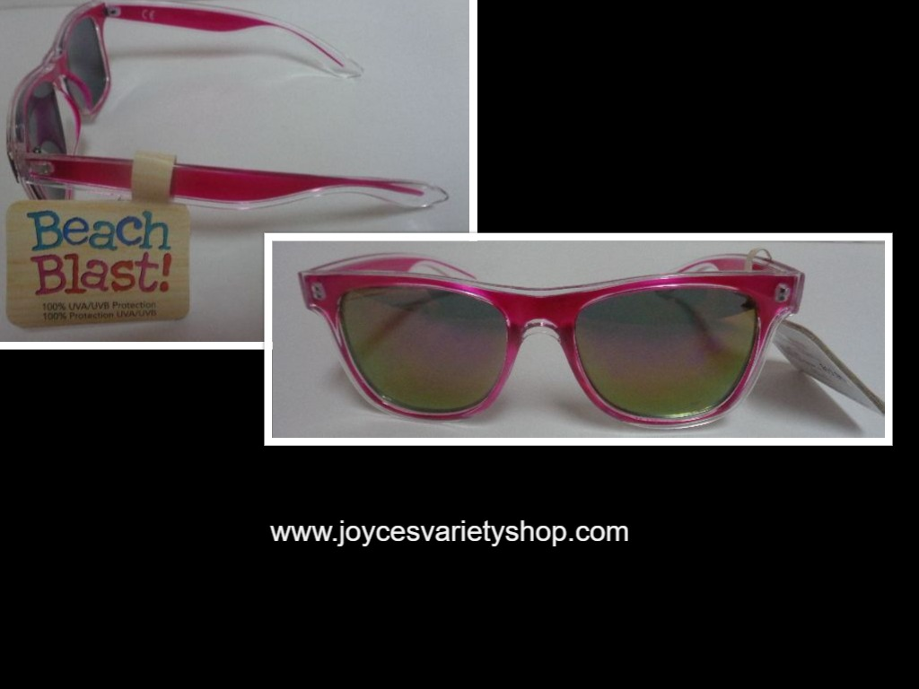 Beach Blast Purple Pink Sunglasses NWT 100% UVA UVB Protection