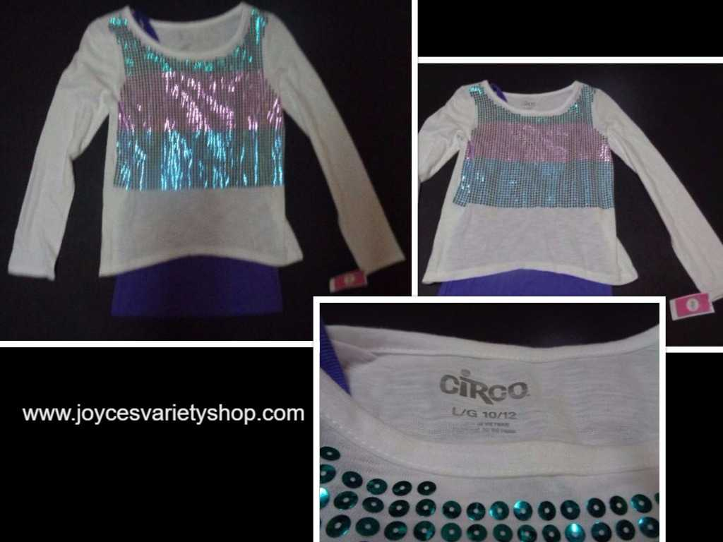 Girl's Youth Blouse Top NWT Circo Long Sleeve Over Tank SZ 10/12
