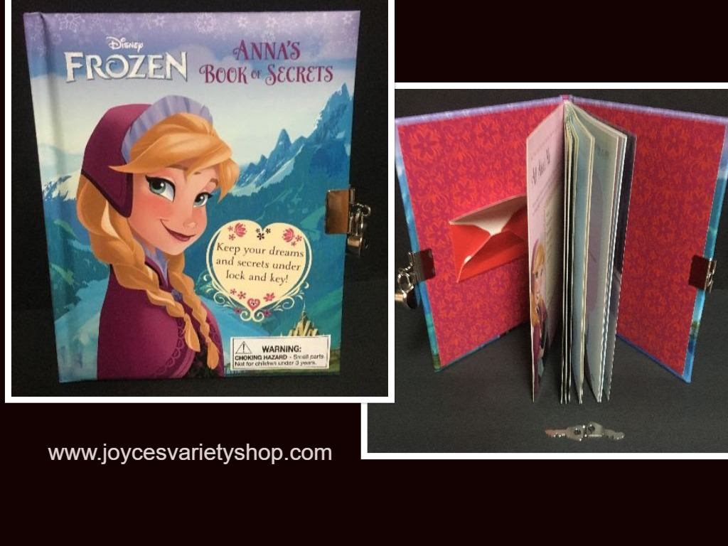 Anna's Book of Secrets Lock & Key Diary Frozen