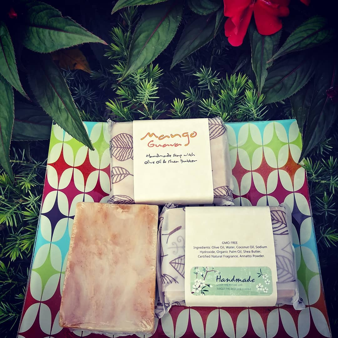 Natural Mango Guava Handmade Soap (4oz)(Vegan).