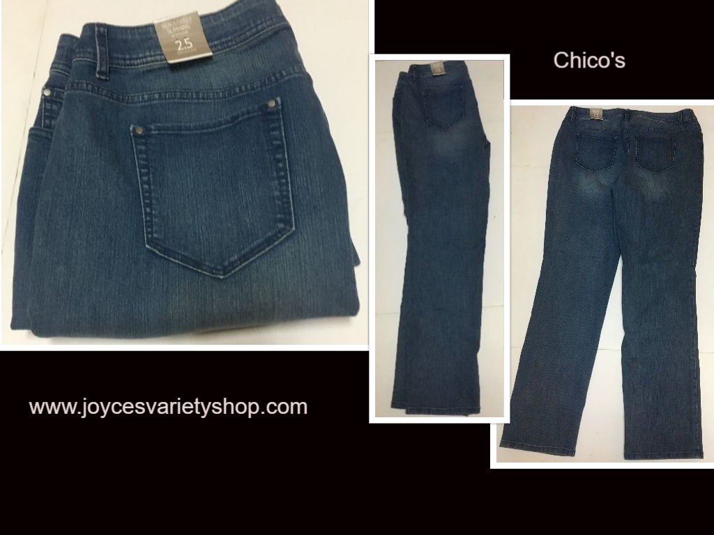 Fabulously Slimming by Chico's Blue Jeans 2.5 Women's (36 x 31)