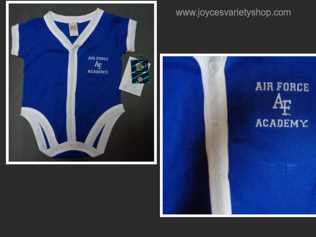 Air Force AF Academy Infant Onsie Sz 18 MO Made in USA