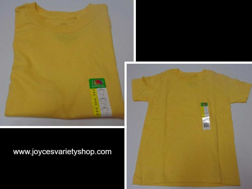 Fruit of the Loom Boy's Cotton T-Shirt NWT Sz M (8) Southern Sun Yellow