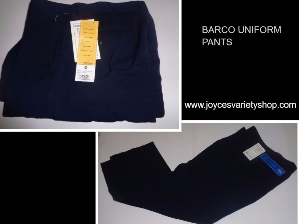 Barco Men's Uniform Navy Blue Work Slacks Pants NWT Sz 40