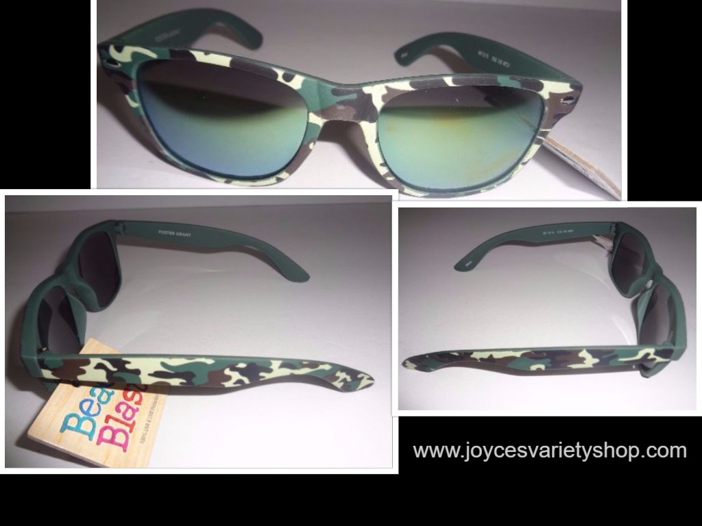 Camouflage Sunglasses NWT Beach Blast Mirrored 100% UVA UVB Protection FG