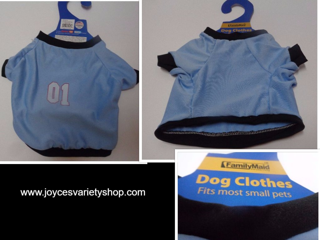 Blue Doggy Sport Jersey Shirt NWT Small Dog Number One