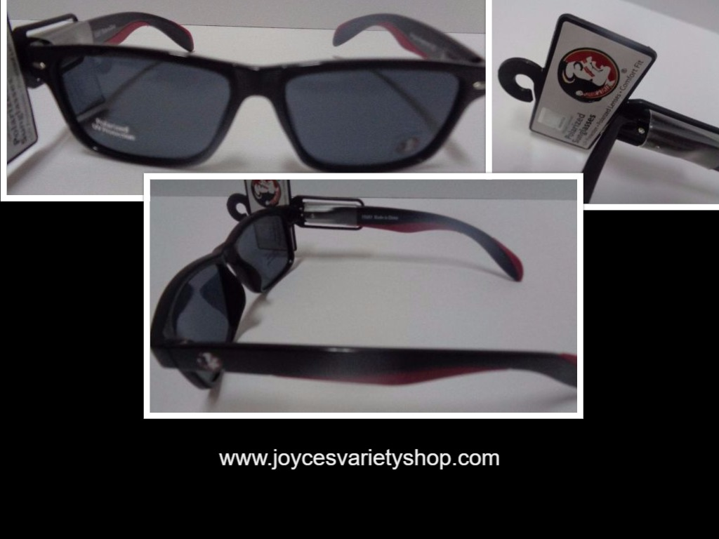 Chiefs University College Licensed Polarized Sunglasses NWT Red & Black
