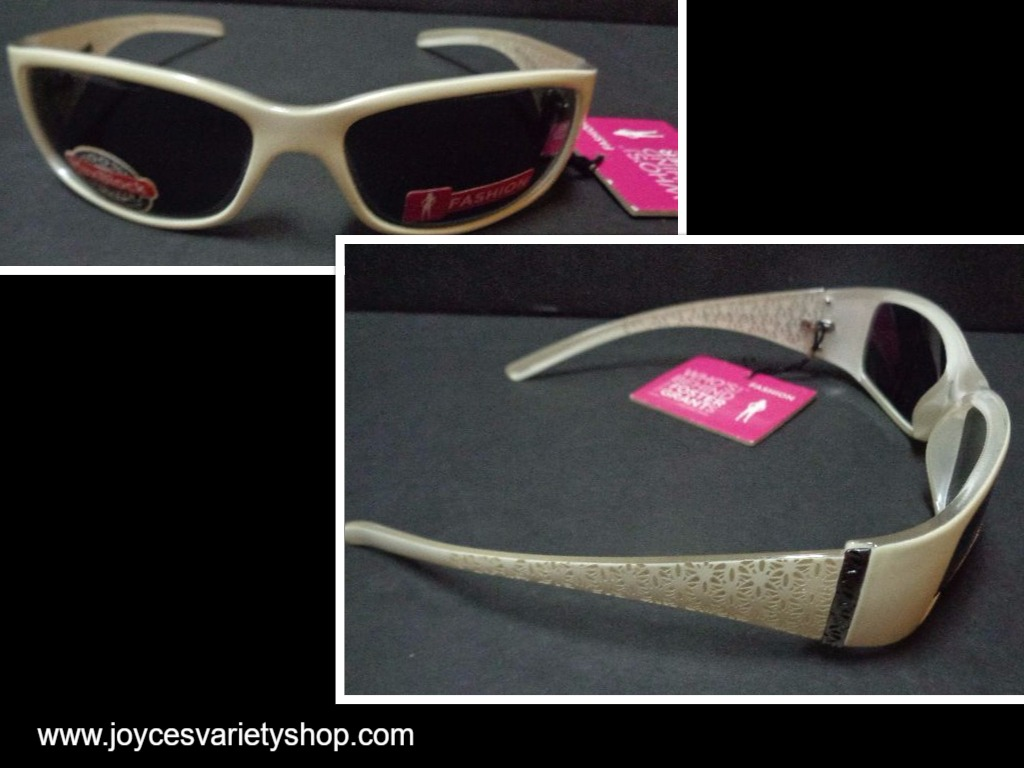 Foster Grant Off White Sunglasses Fashion NWT 100% UVA UVB