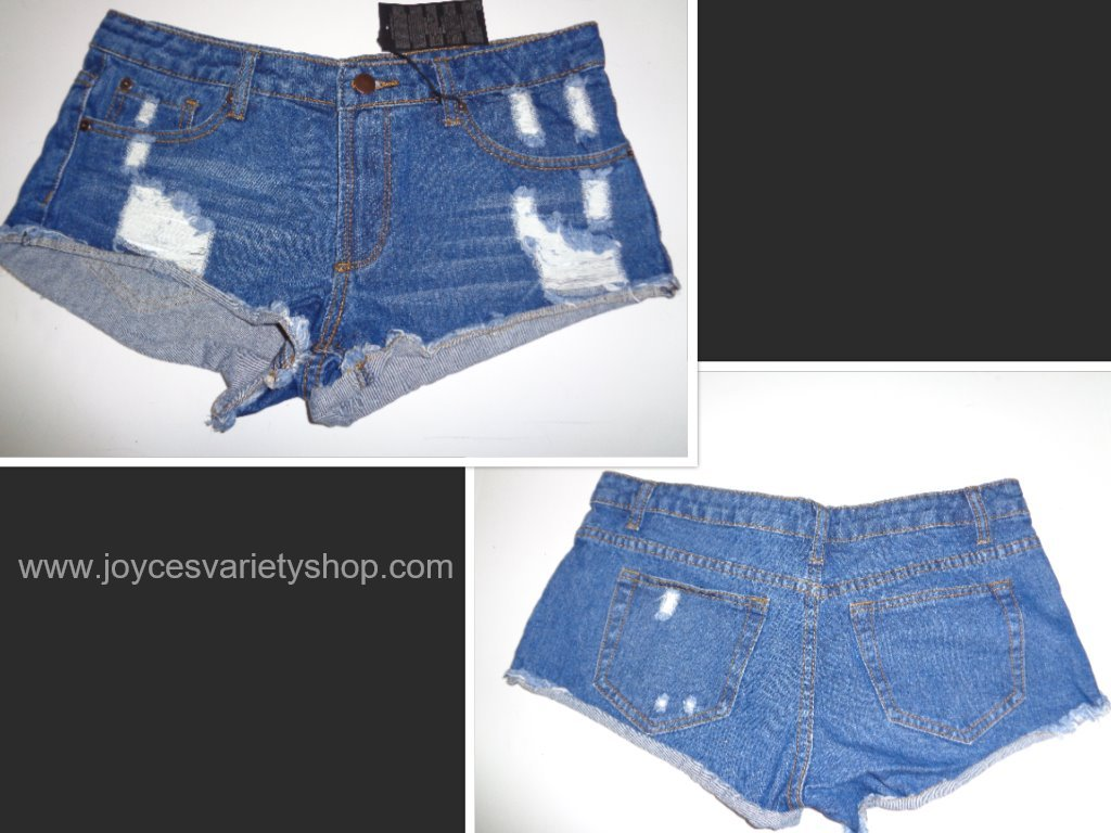 Forever 21 Girls Blue Jean Shorts Size 27