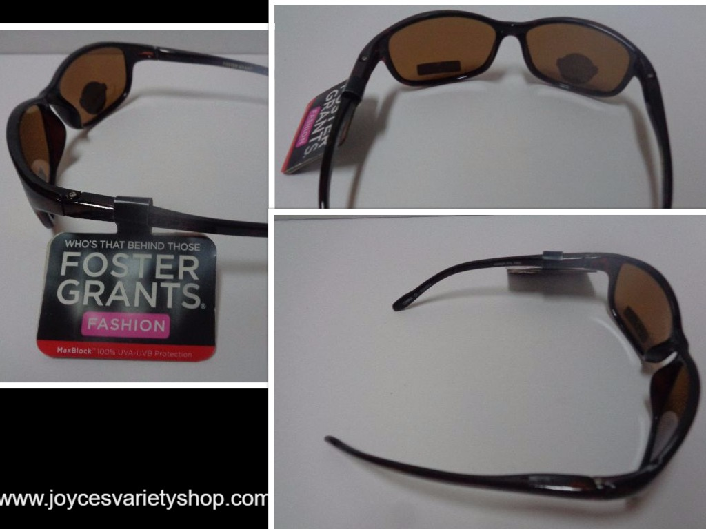 Foster Grant Fashion Sunglasses NWT 100% UVA UVB Protection Black
