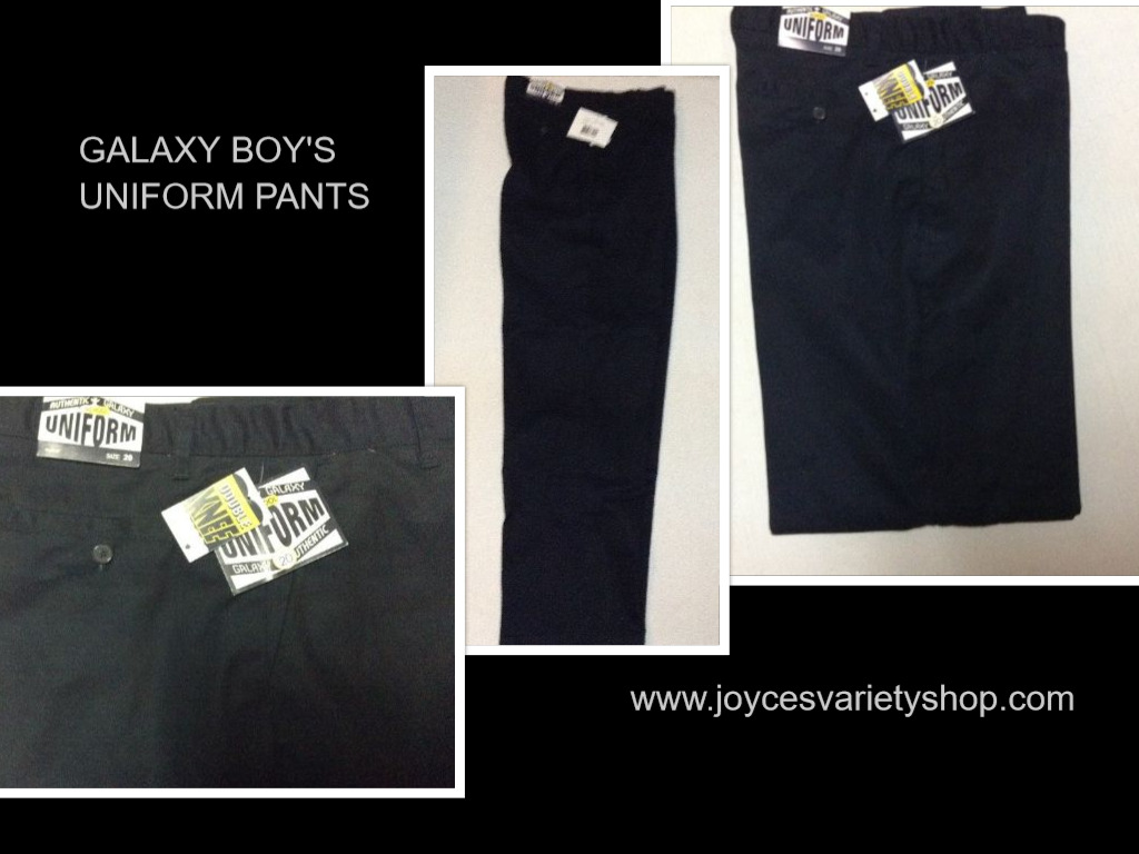 Galaxy Authentic Boys School Uniform Pants Black NWT Sz 20 Double Knee XBF-120N