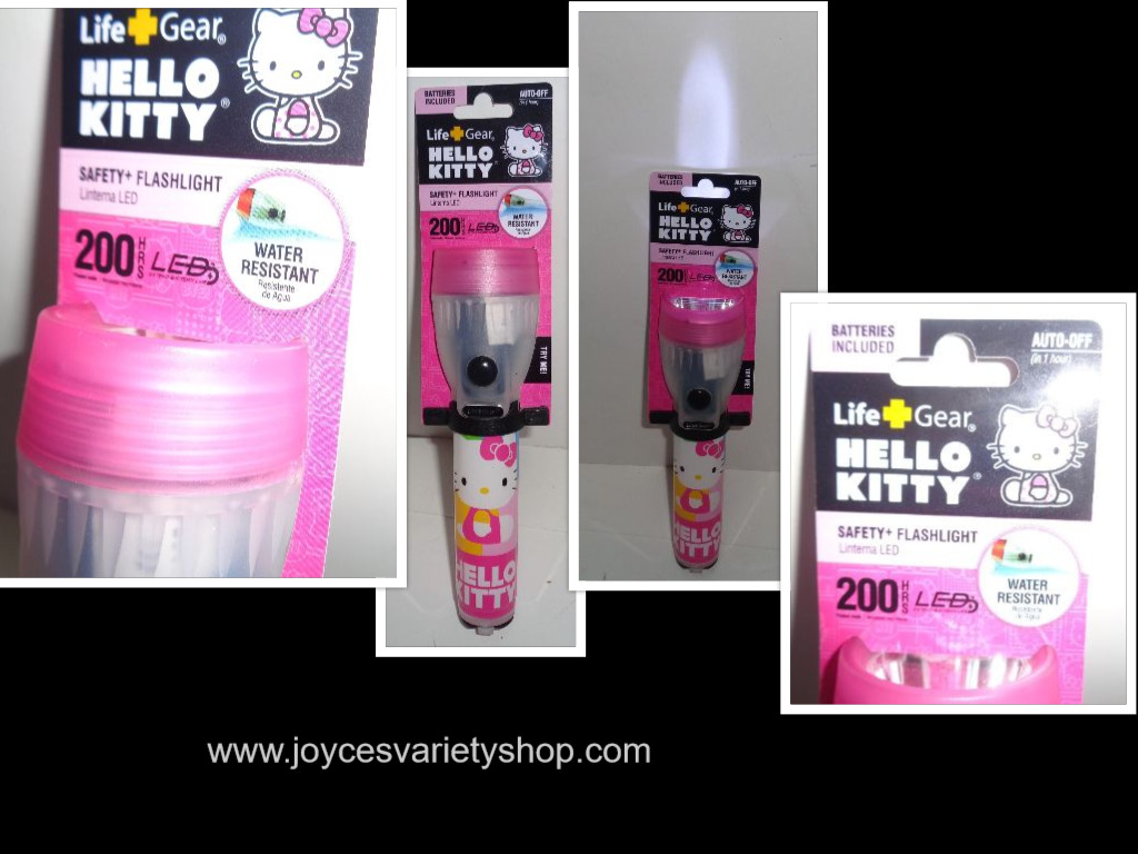 Hello Kitty LED Safety Flashlight NWT by Safety Gear Water Resistant 3 Settings