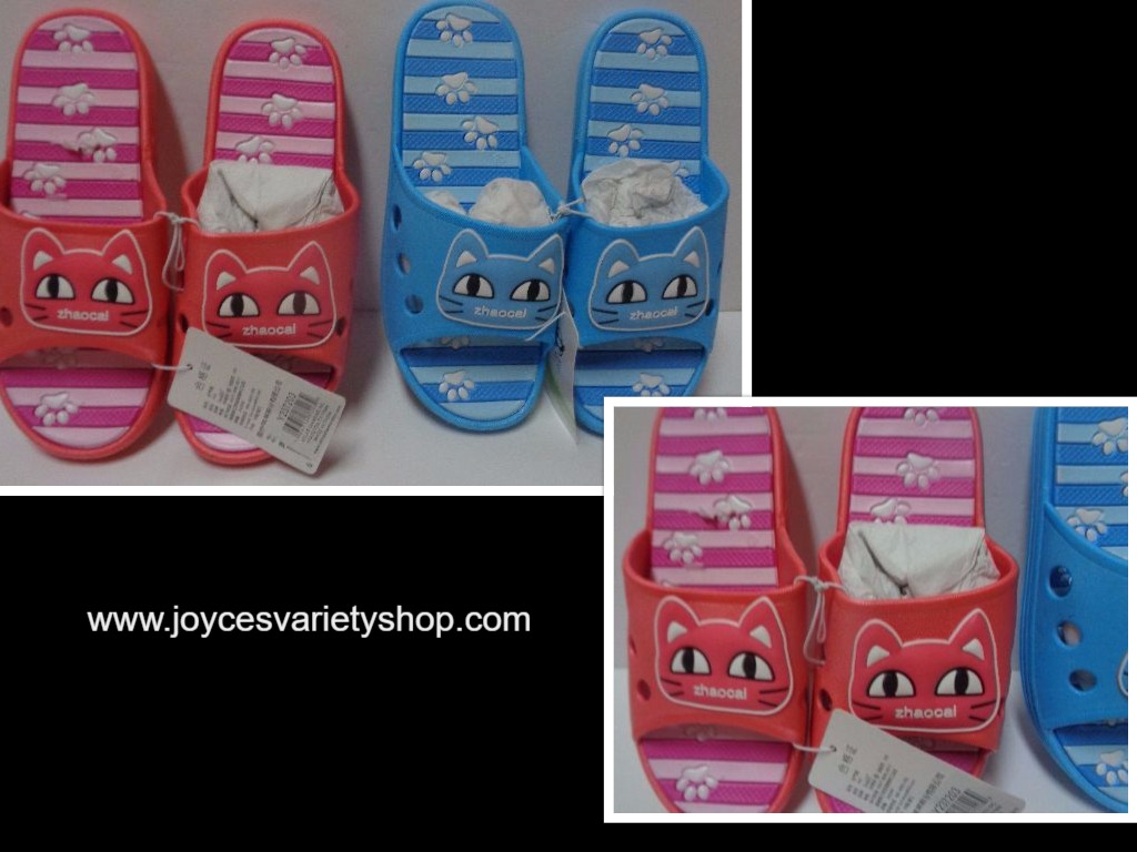 Women's Kitty Cat Sandals Slip On NWT Sz 7.5 or 8 Pink