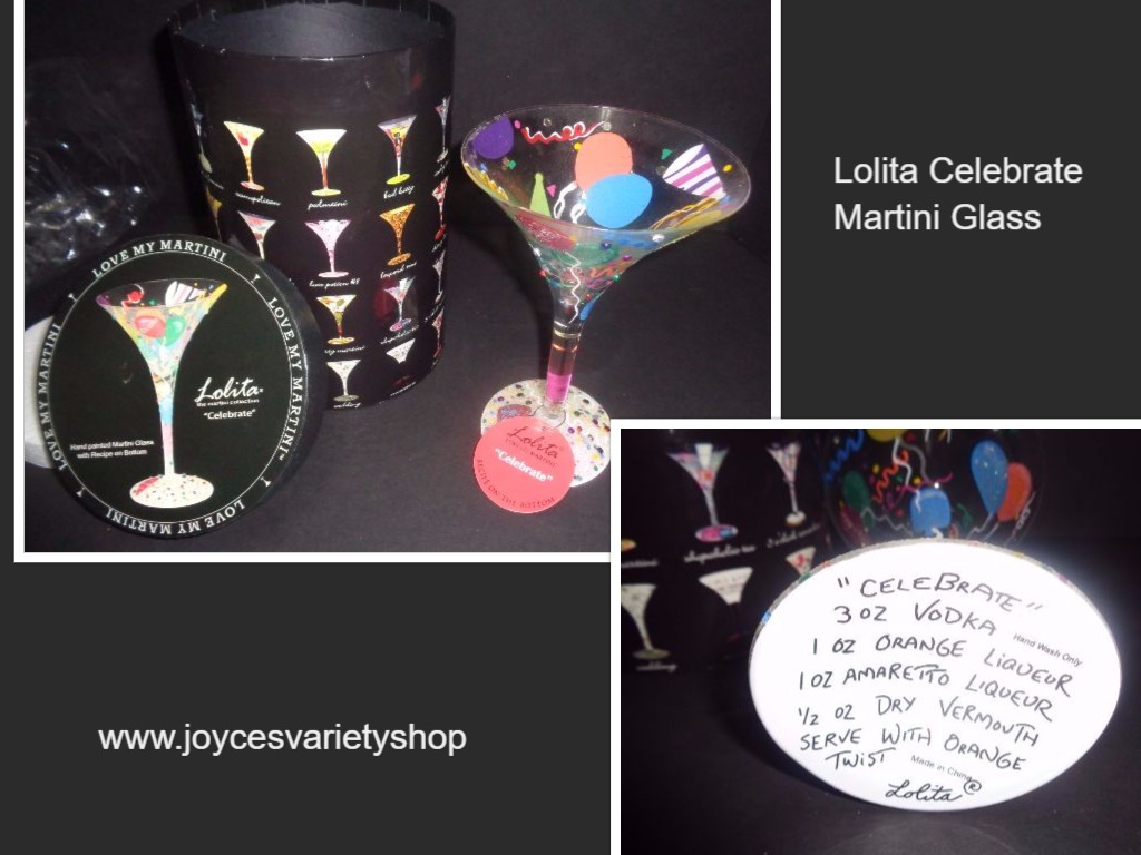 Lolita Celebrate Martini Glass NWT 7 OZ