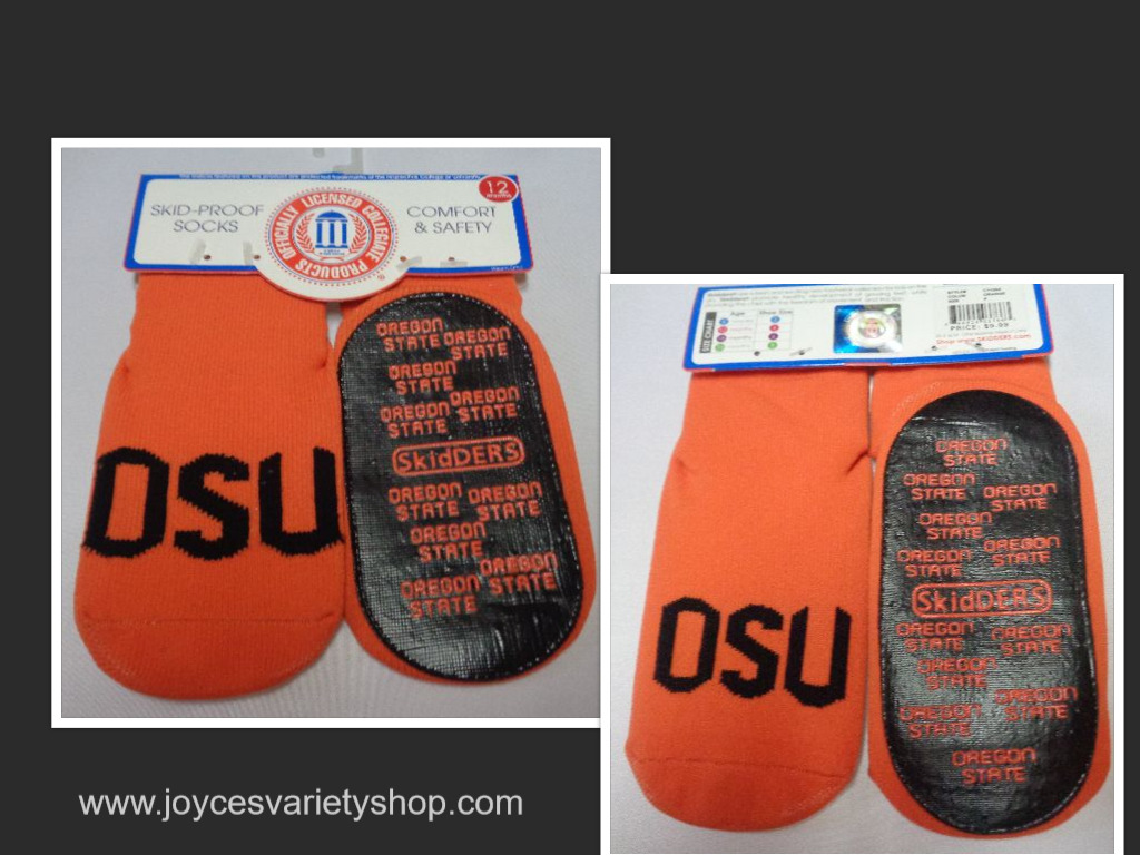 Skidders Toddlers No Skid Oregon State Socks NWT Sz 12 Months