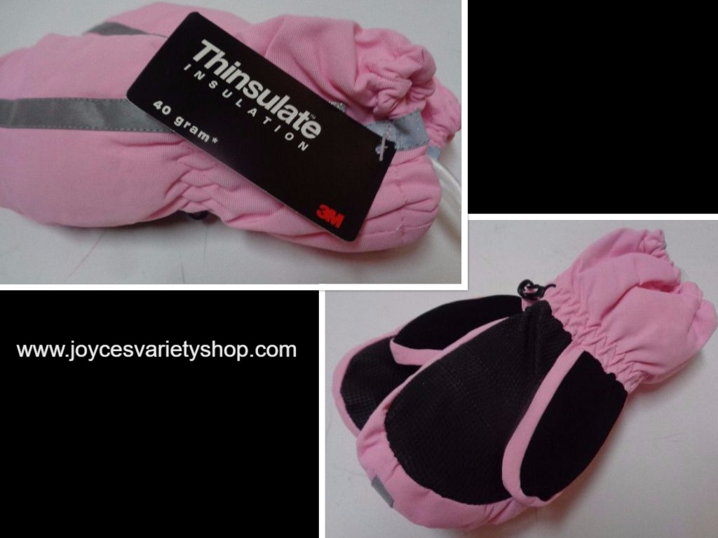 Thinsulate Insulation Youth Winter Mittens NWT 40 gram Pink Gloves Faded Glory