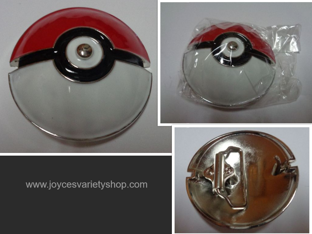 Pokemon Go Poke Ball Enamel Belt Buckle NIP