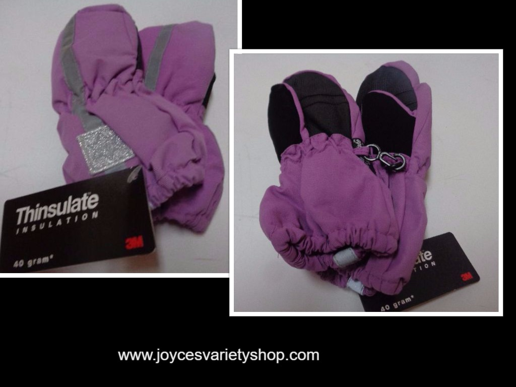Thinsulate Insulation Youth Winter Mittens NWT 40 gram Purple Gloves Faded Glory