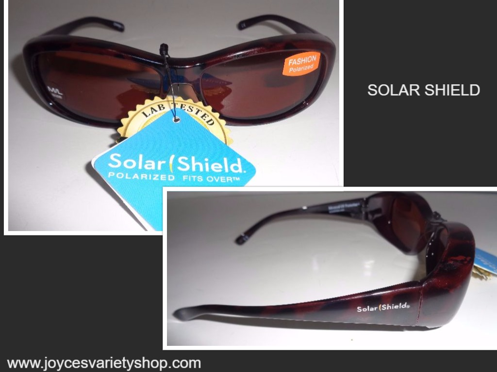 Solar Shield Sunglasses NWT Black & Gold Animal Print SZ M/L