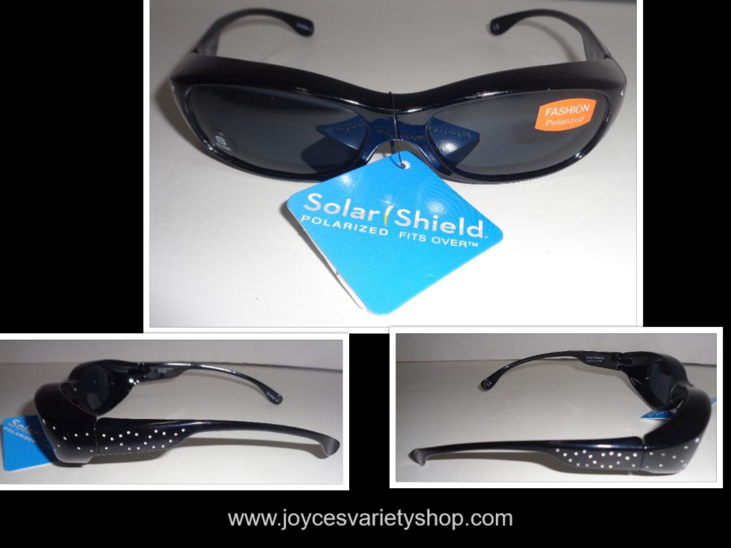 Solar Shield Fit Over Sunglasses NWT Fashion Polarized SZ Small