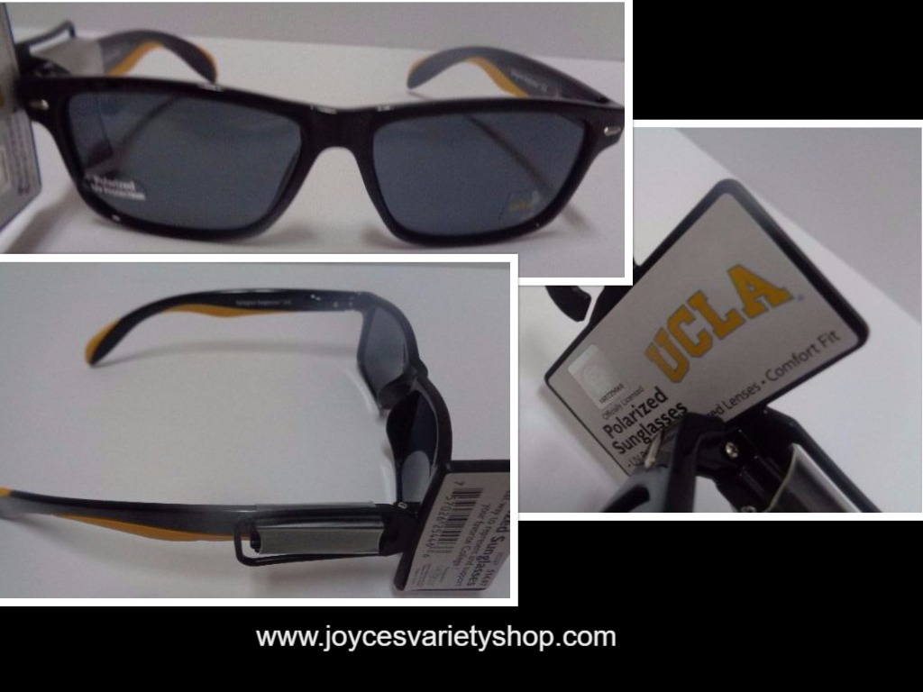 UCLA University College Licensed Polarized Sunglasses NWT Yellow Logo