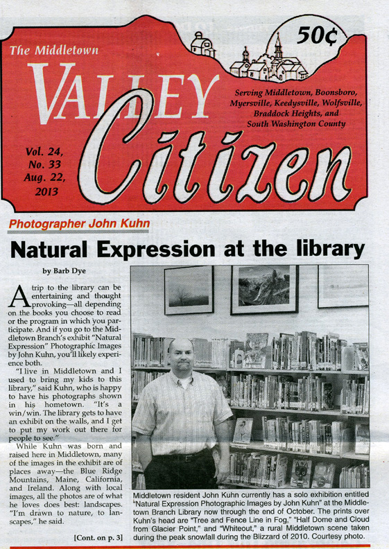 Valley Citizen Article 2013