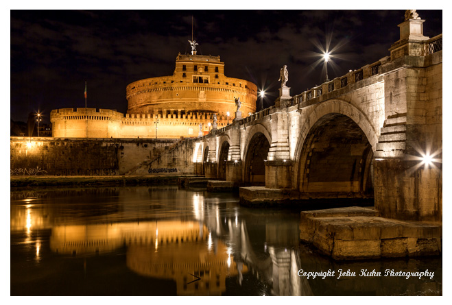 Castle St. Angelo at Night, Rome