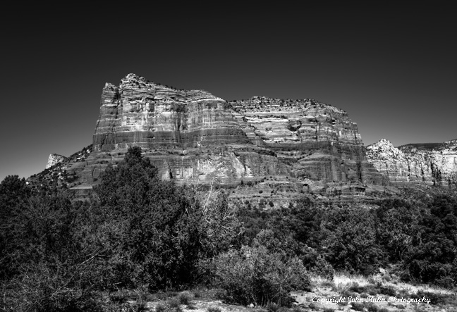 Red Rocks of Sedona Arizona (Black & White)