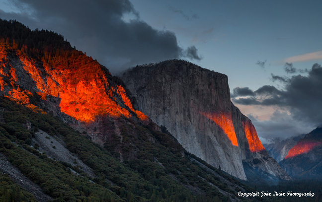 El Capitan on Fire, Close up